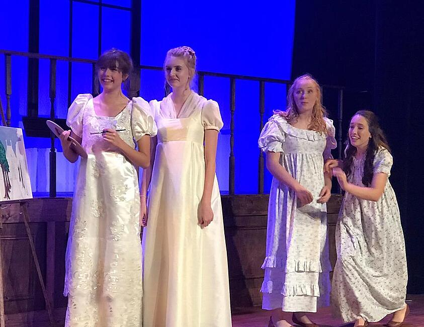 a school community comes together to make pride and prejudice a sucess