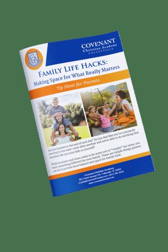 family life hacks tip sheet