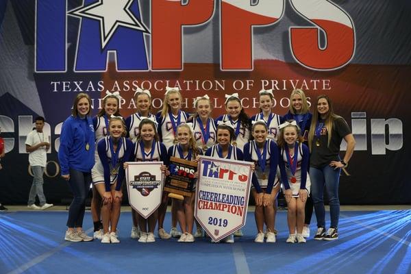 school community supports varsity cheerleaders